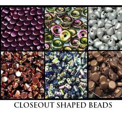 Closeout Shaped Beads