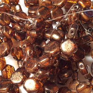 Topaz Gold Luster - 30 beads