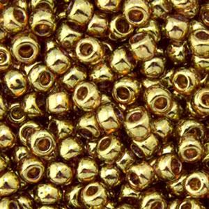 Gold Lustrd Trns Pink  apx 14g