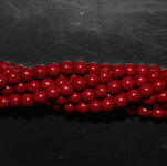 Czech glass pearls, 4mm Cranberry, 48265
