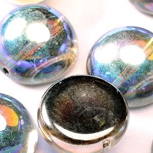 Graphite Rainbow -5 beads - 14x8