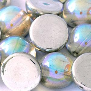 Silver Rainbow -5 beads - 14x8