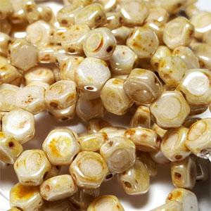 CW Cream Picasso - 30 beads