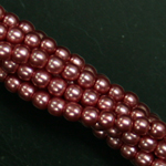 Czech glass pearls, 2mm Fandango Pink 26276