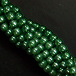 Czech glass pearls, 2mm New Grass, 10184