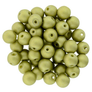 6mm Metallic Satin Chartruese apx 25 pcs