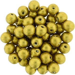 6mm Metallic Spicy Mustard apx 25 pcs