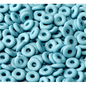 O-Bead 2x4mm size 1.3mm hole, Pastel Denim Blue, 02010-29567