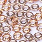 O-Bead 2x4mm size 1.3mm hole, Crystal Capri Gold, 00030-27101
