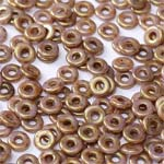 O-Bead 2x4mm size 1.3mm hole, CW Lila Gold Luster, 03000-15695