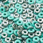 O-Bead 2x4 mm size 1.3 mm hole, Jade Chrome, 63130-27401