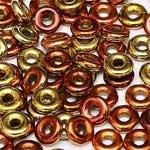 O-Bead 2x4 mm size 1.3 mm hole, Black Hills Gold, 23980-98542