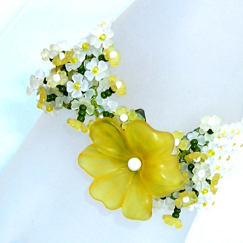 ANNIVERSARY -Lucies' Daisy Patch Gold, White, Chartreuse