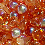 Orange Rainbow- 6mm - 20 pieces