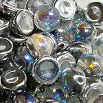 Silver Rainbow - 6mm - 20 pieces