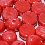 Opq Red AB - 6mm - 20 pieces