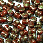 Czech Pellet 4x6mm Red Travertin