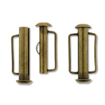 Slide Bar Tube 21.5mm Ant Brass Plate