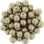 6mm Metallic Hazelnut apx 25 pcs