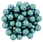 6mm Blue Aqua  apx 25 pcs