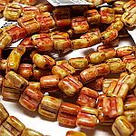 CW Dk. Travertin apx 30 beads