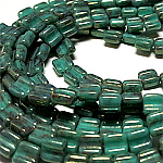 Turquoise Terra Red apx 30 beads