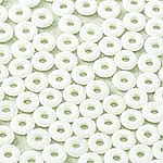 O-Bead 2x4 mm size 1.3 mm hole, Chalk White, 03000