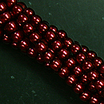 Czech glass pearls, 2mm Brick, 10185