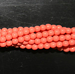 Czech glass pearls, 3mm Peach Coral, 48955