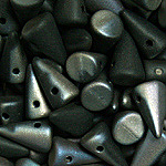 Spike 5x8mm Matte Black Celsian 23980-22571
