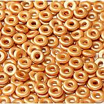 O-Bead 2x4mm size 1.3mm hole, Pastel Amber, 02010-25003