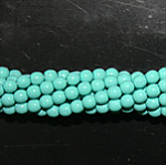 Czech glass pearls, 4mm Turquoise, 48665