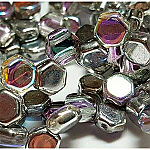 Crystal Silver Rainbow- 30 beads