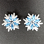 Flakes Blue and White
