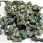 CW Blue Green Luster 30 beads