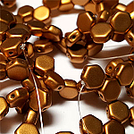 Metallic Antique Brass - 30 beads