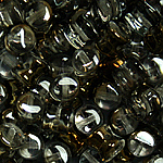 Czech Pellet 4x6mm Crystal Valentinite