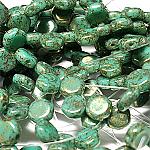 Blue Turq Terra Red- 30 beads