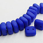 CheXX, 6x6mm, two-hole, MATT Cobalt, CZXX33050-84110