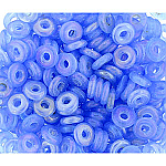 O-Bead 2x4 mm size 1.3 mm hole, Luster Opal Blue 31010-L