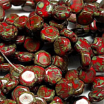 Red Travertin- 30 beads