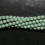 Czech glass pearls, 2mm Hartford Green, 48597