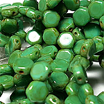 Grn Turq Travertin- 30 beads