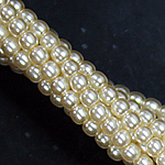Czech glass pearls, 2mm Cream, 70440
