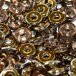 O-Bead 2x4 mm size 1.3 mm hole, Crystal Brass Mix, 00030-26991