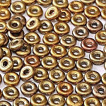 O-Bead 2x4 mm size 1.3 mm hole, Metallic Mix, 01610