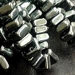 CheXX, 6x6mm, two-hole, Hematite, CZXX23980-14400