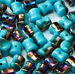 Czech Pellet 4x6mm Turquoise Sliperit