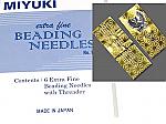 Miyuki Extra Fine Beading Needles -6 pack