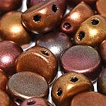 Purple Iris Gold- 6mm - 20 pieces